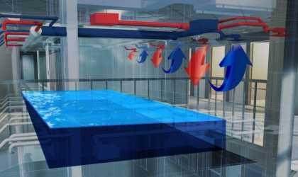 Оборудование воздухообмена в бассейне